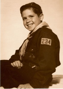 young Robbie Schlosser smiling