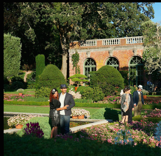 "Guests at Filoli's ""Step Back in Time"" party, 2014"