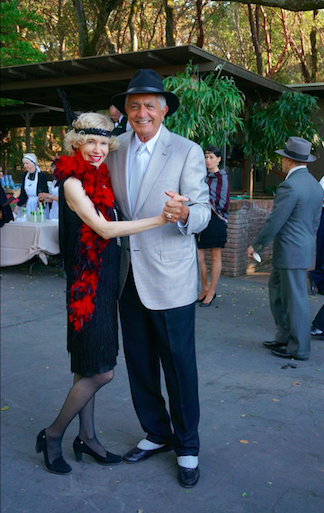 "Guests dancing at Filoli's ""Step Back in Time"" party, 2014"
